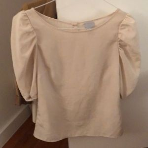 H&M blouse with puffy sleeves